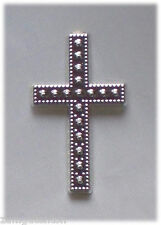 15 Deko Kreuze silber als Streuteile, für Karten Fotoalben usw