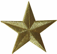 """3"""" Embroidery Iron On Golden Star Applique Patch"""