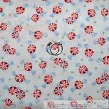 BonEful Fabric Cotton Quilt White Red Green Xmas Peppermint Mint Candy Dot SCRAP