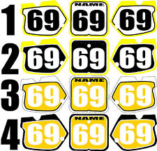 Graphic for 1989-1992 Suzuki RM125 250 RM 125 250 Number Plate Side Panels Decal