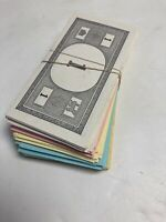 VINTAGE 1961 MONOPOLY GAME BOARD PARTS PARKER BROTHERS MONEY