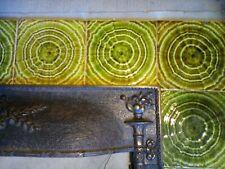 Complete Set Vintage Antique Fireplace Tile Tiles Mantle Lot Uset