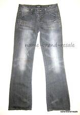MEK DENIM USA Womens NEW OAXACA Bootcut 29 x 34 Black Jeans DISTRESSED Boot