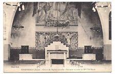 vend'huille , choeur de l'église nouvelle ,peintures murales de mlle val reyre