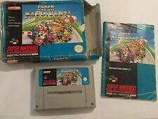 PAL Super Nintendo Entertainment System SNES jeu Super Mario Kart MarioKart