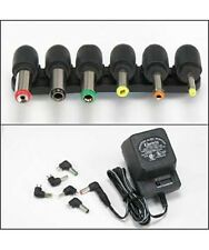 Universal AC/DC Power Adapter Output 3V 4.5V 6V 7.5V 9V 12V 800mA with 6 Plugs