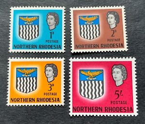 Northern-Rhodesia 1963 - 4 mint hinged stamps with Michel No. 78, 86