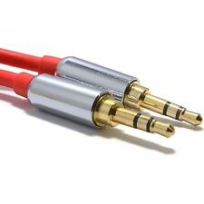 1m Pro Rosso 3.5mm Jack Maschio a Maschio Cavo Audio Stereo piombo mobile mp3 headphon