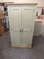 SHABBY PAINTED LINEN STORAGE CUPBOARD RUSTIC BESPOKE SIZES & COLOURS BALL GREEN