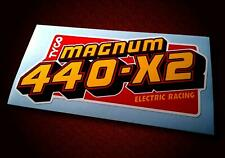 Vintage Style TYCO • MAGNUM 440-X2 • HO Slot Car • Sticker • Pit Box Decal