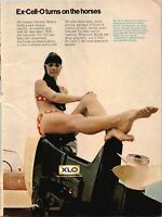 1969 Vintage Print Ad Johnson Outboard Motors Ex-Cell-O XLO Bikini Model
