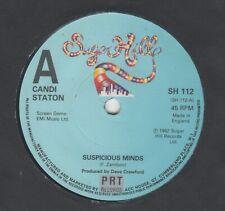 "CANDI STATON - SUSPICIOUS MINDS - 7"" Vinyl Record SH 112 (1982)"