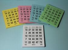 Bingo Bingokarten Ticket-Block 5 x 100 (500) Tickets verschiedene Farben / Serie