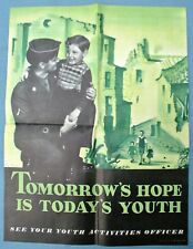"Post Wwii Poster ""Tomorrow's Hope is Today's Youth"""