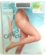 JC Penney Vintage Control Top Pantyhose NWT Size Averge Smoke Grey 85 121-5185