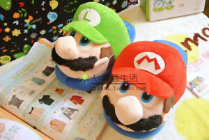 Super Mario Brothers Red Mario Adults & Kids Soft Plush Slipper 1 Pairs