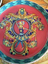 VERSACE LE ROI KING SUN PLATE Coaster MEDUSA FLOWERS Retired pattern New