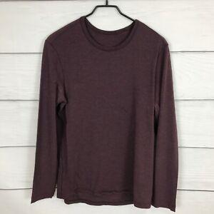 Lululemon 5 Year Basic Long Sleeve Shirt Size S / M ? Burgundy Red Casual Crew