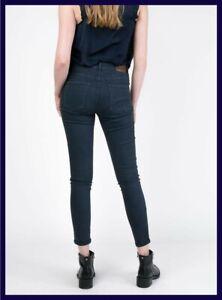 Pantaloni donna elasticizzati vita alta skinny push up invernali blu slim 28 42