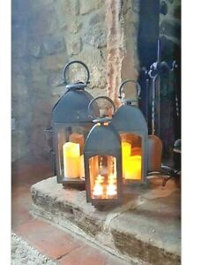 Grey Metal Dome Lantern available in three sizes from