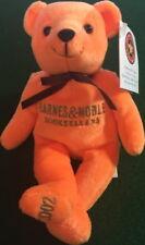 "The Cheesecake Factory 2002 TEDDY BEAR Orange BARNES & NOBLE 8"" Bean Bag Plush!"
