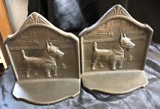 New ListingVintage Scottish Terrier Metal Book Ends – Copr 1929 Scotty Dog Free Shipping