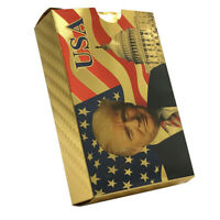 US President Donald Trump 24K Gold Foil Playing Cards Poker Game Deck
