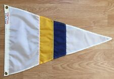 Vintage Signal Flag Maritime Nautical Number 5 Yellow Blue 16X24 New Old Stock