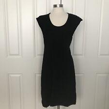 Nanette Lepore Black Merino Wool Stretch Sweater Dress Soft Size M/L