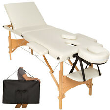 Mobile Massageliege Massagetisch Massagebank 3 Zonen klappbar beige B-Ware