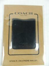Coach Stick It Phone Wallet Leather Black NEW