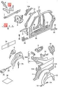 Genuine AUDI VW Mounting Bracket For Suspension Strut Mounting 8D0809120