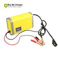 12V 6A Battery Charger Car Motorcycle Auto Starter Power Portable Booster Yellow