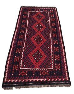Afghan Maimana Kilim 112 X 240 Cm  Handmade Flat weave Rug Wool Rug Persian Rug