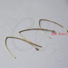 20 Pieces Raw Brass Earring Hooks - 42x32.5mm (1834C-I-459)