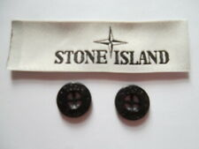 16 X Buttons Black Gloss Stone Island Replacement Buttons 8 Pairs