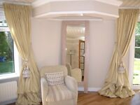 Fully Custom Made Dupioni Silk Curtains by kSrishti in any Color,Size,Top,Lining