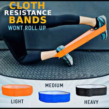 Non Roll Resistance Bands Loop Booty Gym Exercise Fitness Strength Training Legs