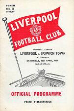 Second Division Liverpool Teams L-N Football Programmes
