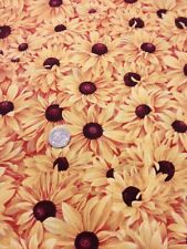 Bright Golden Flowers Daisy Daisies Quilting Cotton 100 % Timeless Treasures