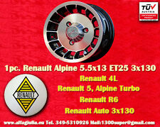 1 Cerchio Lega Renault R4 R5 Turbo Alpine 5.5x13 1 Wheel Felge Llanta Jante TUV