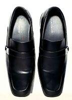 Perry ellis Portfolio Mens Sz 11 Dress shoes Black Faux Leather Loafers Slip On