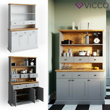 VICCO Küchenschrank CAMBRIDGE Vitrine Buffet Küchenregal Landhaus Eiche