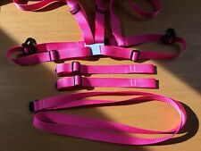 Adult Baby Harness, With Walking Reins, Anchor and Crotch Straps In Pink Etc.