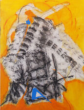 Acrylic Collage on Canvas - Fossilization, Framed
