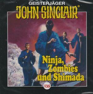 JOHN SINCLAIR - Teil 135 - Ninjas , Zombies und Shimada - AUDIO CD - NEU