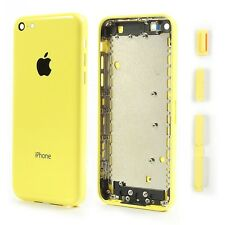 CARCASA CHASIS TAPA BATERIA + BOTONES + PORTA SIM APPLE IPHONE 5C COLOR AMARILLO