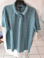 Men's Blue Plaid Short Sleeve Polo Shirt from Van HeusenSize Xxl Cotton Blend