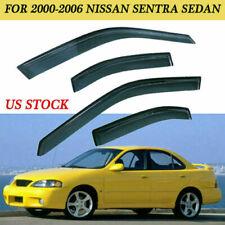 For 2000-2006 Nissan Sentra Sedan Sun Rain Guard Window Vent Visor 4 Door Smoke (Fits: Nissan)