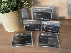 5x Denon DAT 90 • Digital Audio Tape • R-90DT